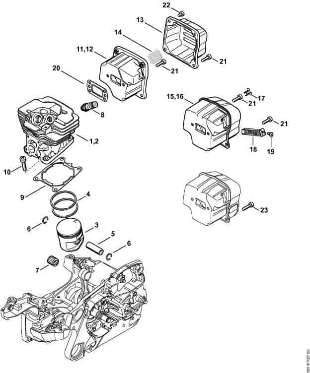 [LH_8606] 036 Stihl Chainsaw Parts Diagram Images Wiring