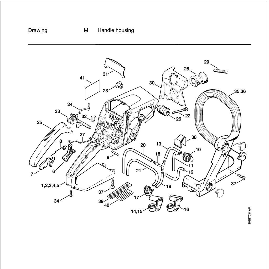 [ND_4223] Stihl Chainsaw Parts Diagram Together With Stihl