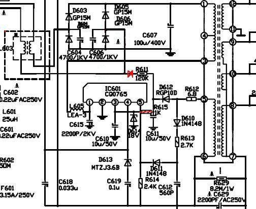 [SH_3080] Power Resumption Alarm Circuit Schematic