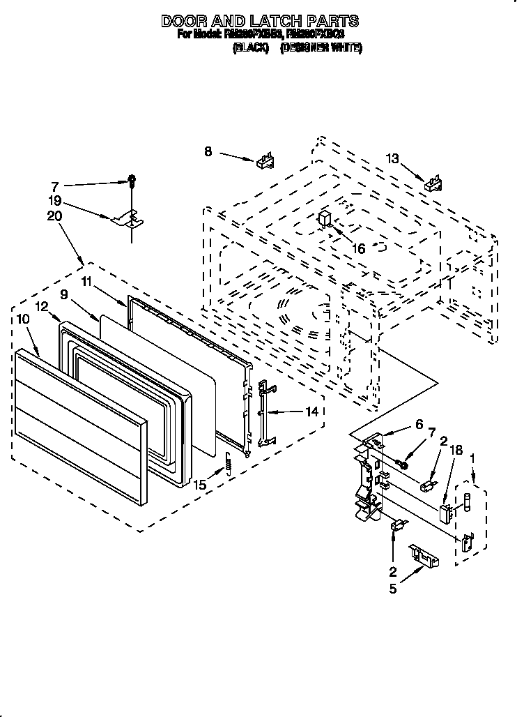 [RD_2939] Cabinet Parts Diagram And Parts List For Samsung