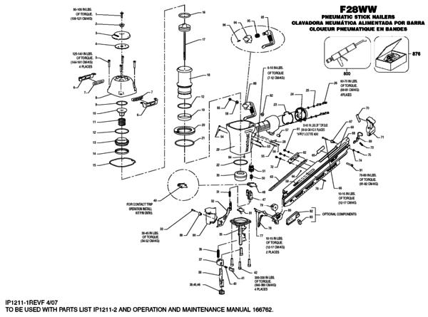 [ZA_2202] Nail Gun Parts Diagram Schematic Wiring