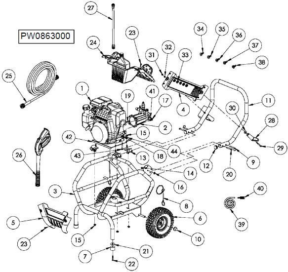 [WG_6205] Honda Gcv160 Pressure Washer Parts Download Diagram
