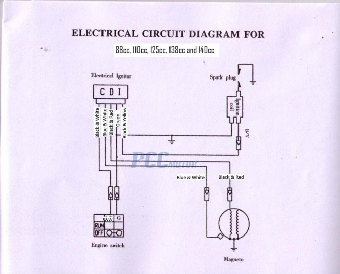 xk2619 49cc scooter cdi wiring diagrams free diagram