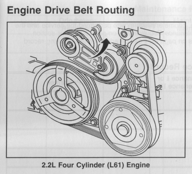 cw1017 2002 saturn vue serpentine belt routing and timing