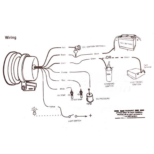 [DIAGRAM] Auto Meter 9117 Tachometer Adapter Installation