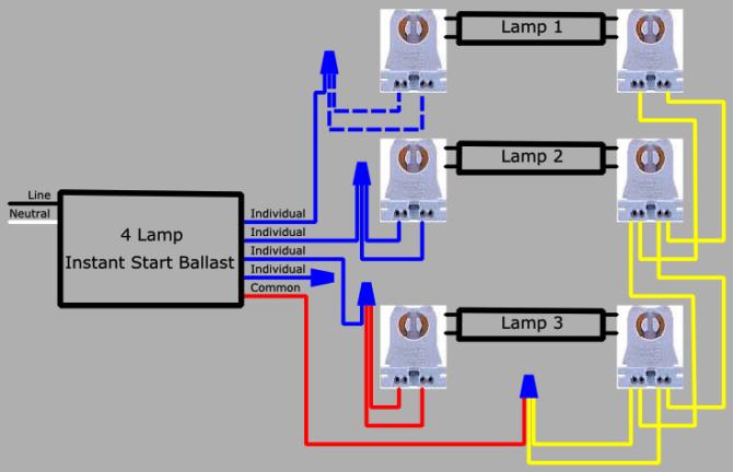 240 volt 4 lamp t5 fluorescent ballast wiring diagram  89