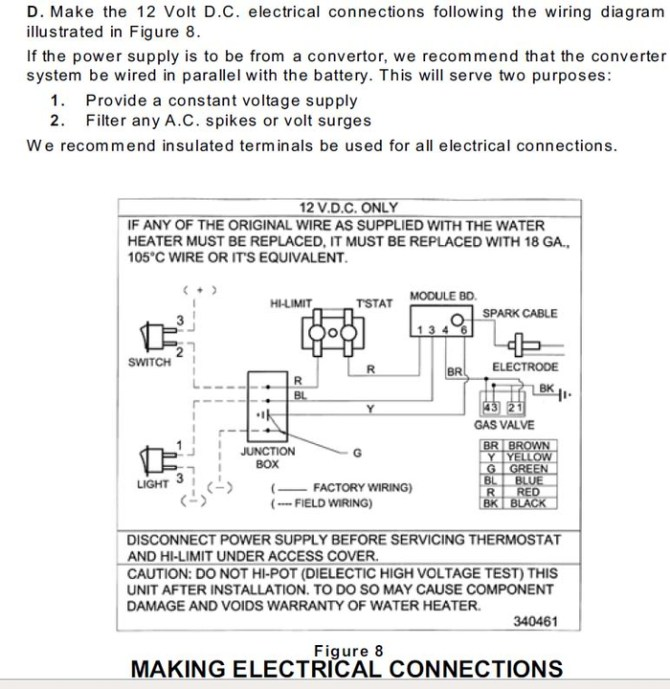 suburban rv water heater sw6de wiring diagram trim pot