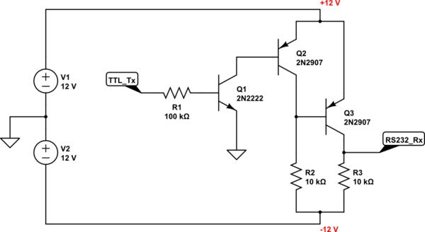 [BH_6203] Rs232 Ttl Converter Circuit Download Diagram