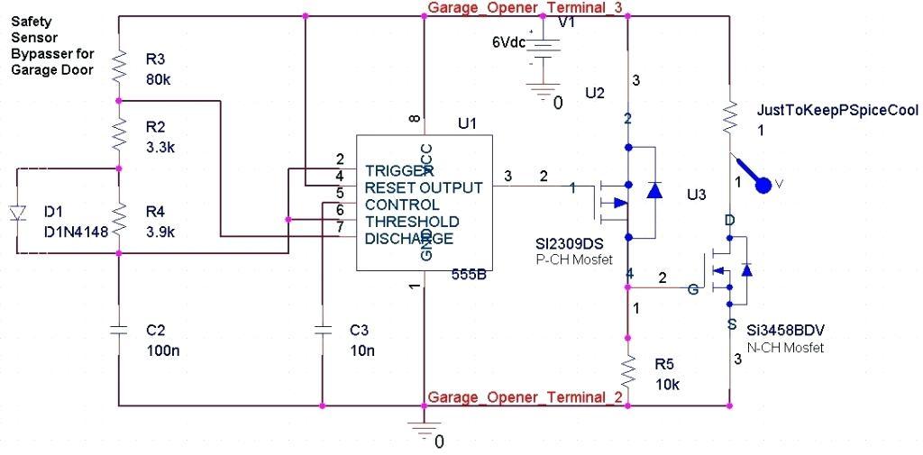Sears Garage Door Opener Safety Sensor Bypass