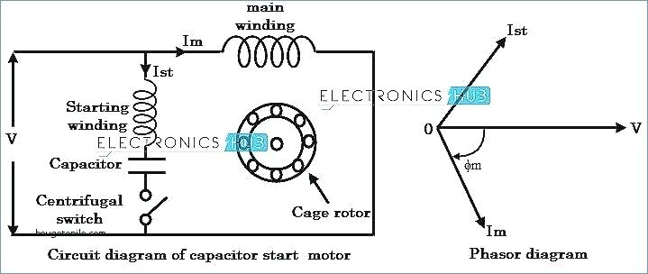 Single Phase Motor Wiring Diagram With Capacitor Collection