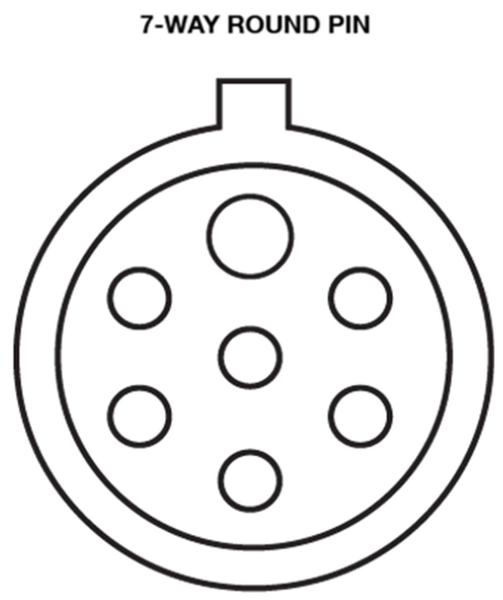 6 Round Wiring Diagram / 6 Way Round Trailer Wiring