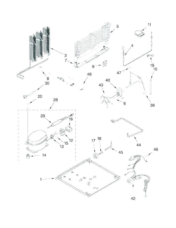 [XL_6138] Refrigerator Parts Sears Kenmore Refrigerator