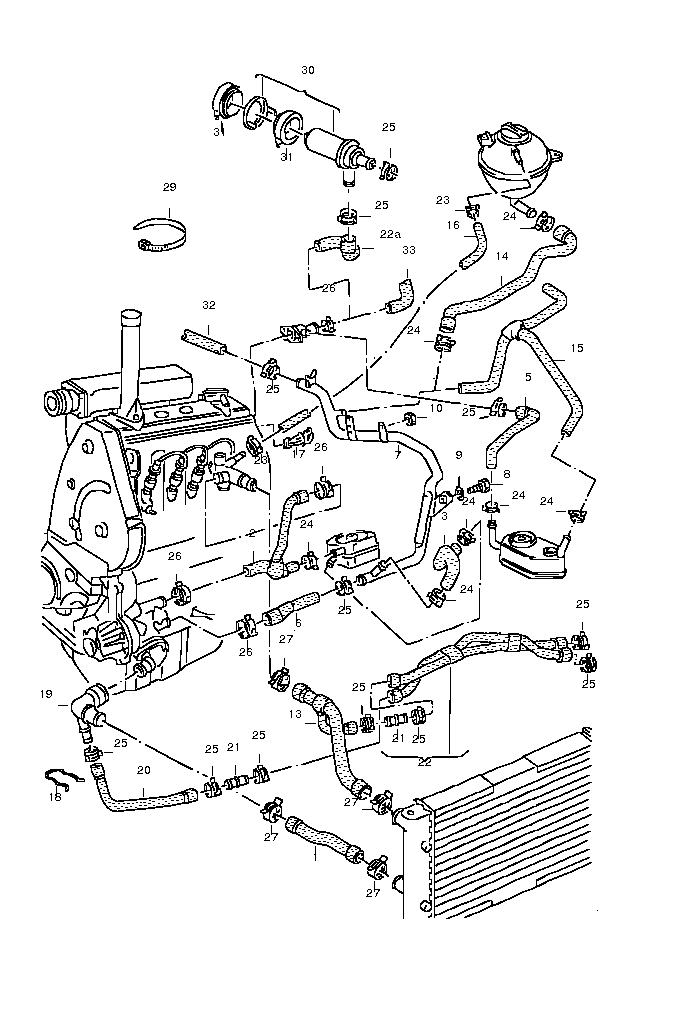 1999 Jetta 2 0 Engine Diagram : Diagram 1995 Volkswagen