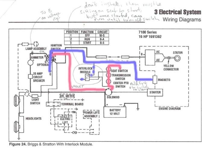 lv4458 wheel horse lawn tractor wiring diagram schematic
