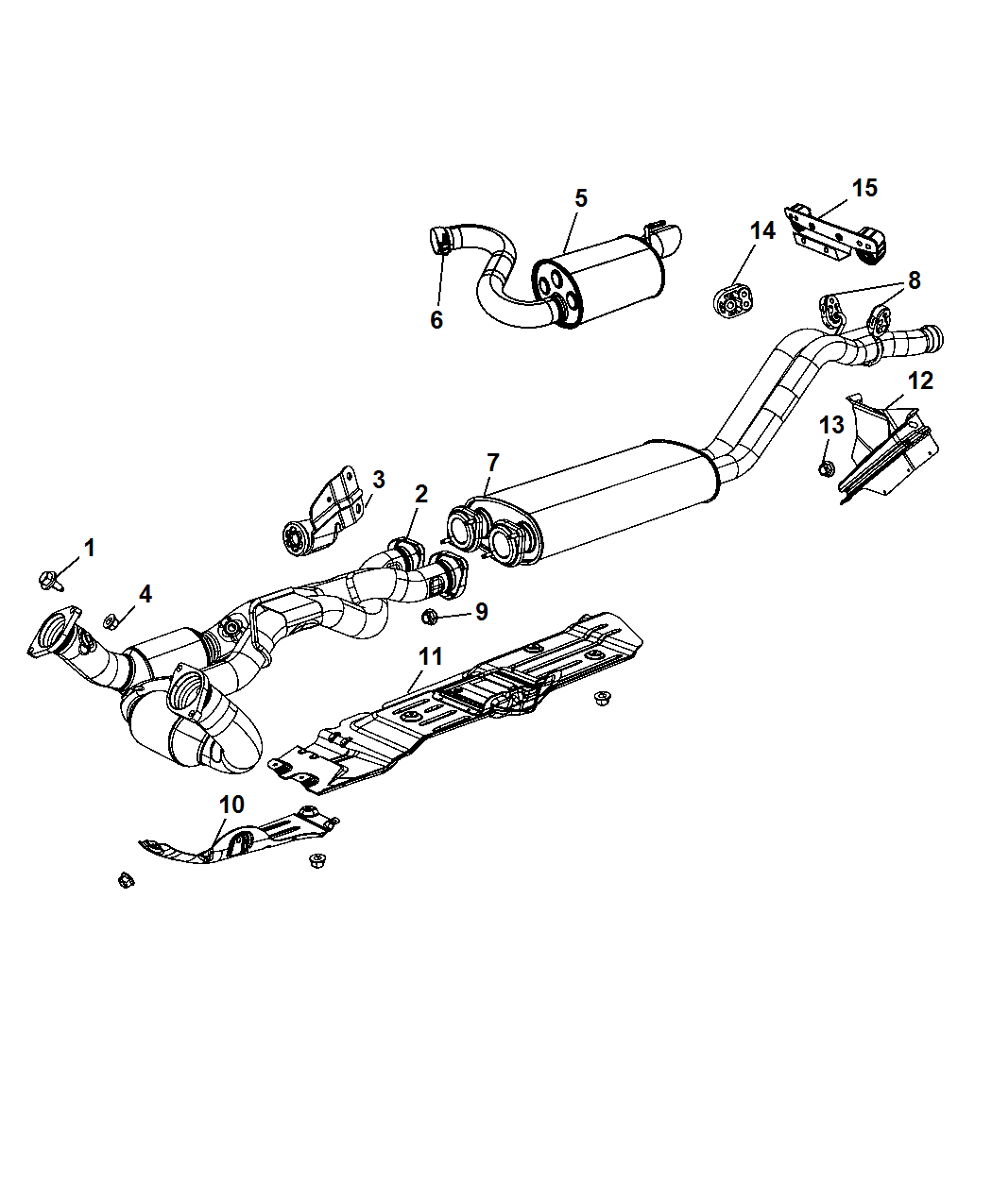 2006 Jeep Grand Cherokee Exhaust System Diagram