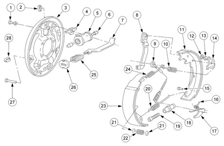 [TA_1070] Ford Ranger Xlt 40 Rear Drum Brakes Need Diagram