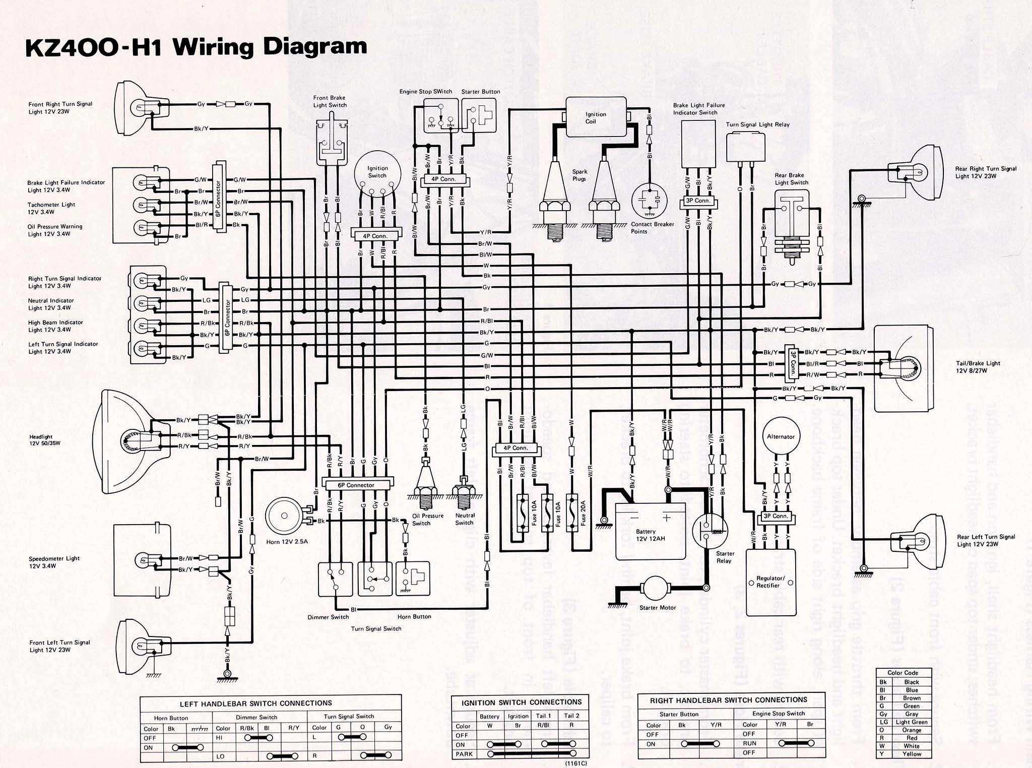 [MD_8753] Motorcycle Wiring Diagrams Also Kawasaki Kz1000