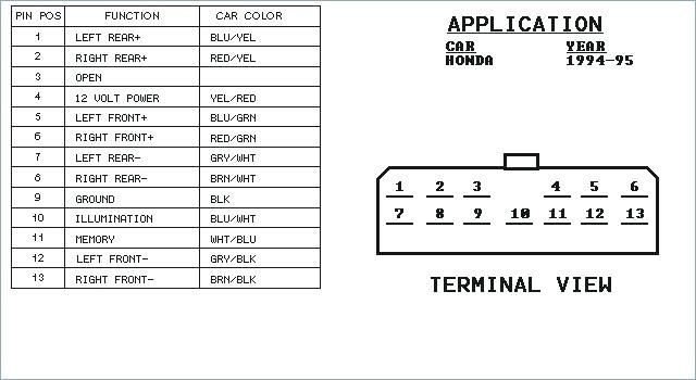 1988 honda accord radio wiring diagram  connect wire