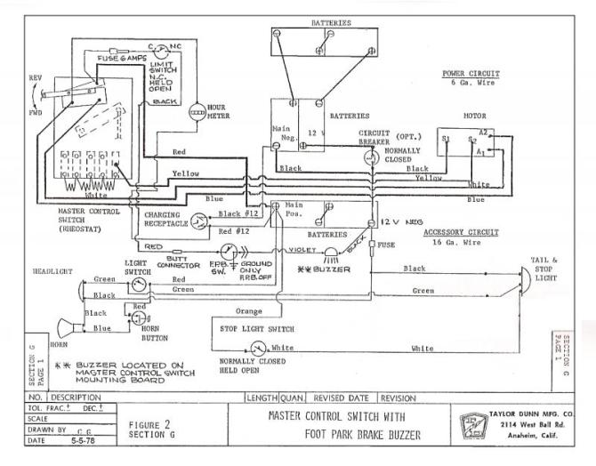 taylor dunn et 3000 wiring diagram  schematic wiring