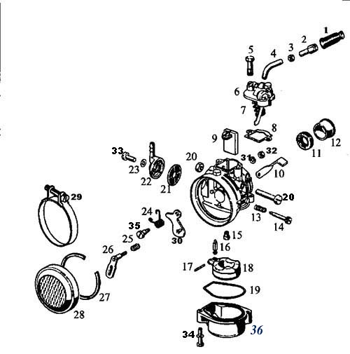 [KY_0342] Garelli Wiring Diagram Clymer Manual Schematic