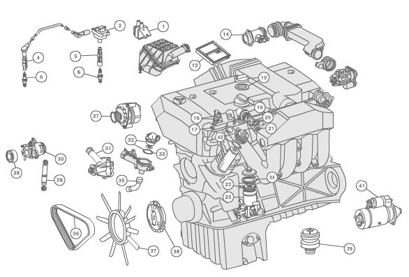 1998 Mercedes C230 Parts Diagram