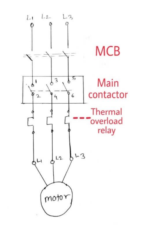 [YR_8283] Dol Starter Circuit Diagram Wiring Diagram