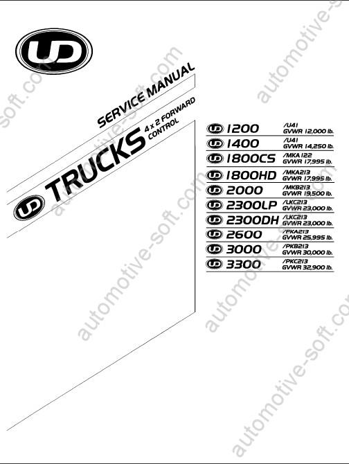 [WE_9112] Nissan Ud Dump Truck Wiring Diagrams Download