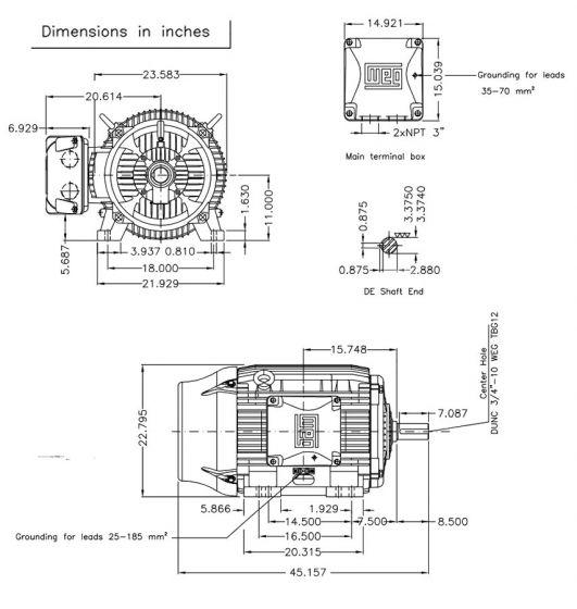[KX_5999] Weg W22 Motor Wiring Diagram Schematic Wiring