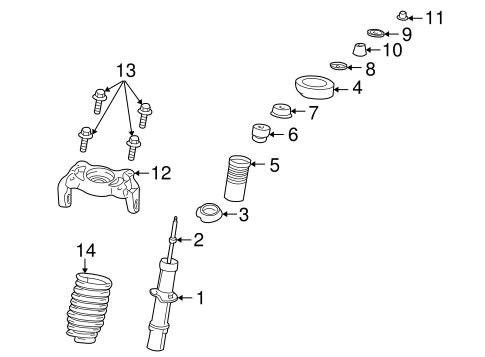 2004 Dodge Neon Rear Suspension Diagram / Brakes Rear Drum