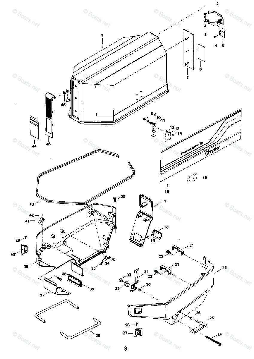 [EY_3015] 55 Hp Chrysler Outboard Diagram Schematic Wiring