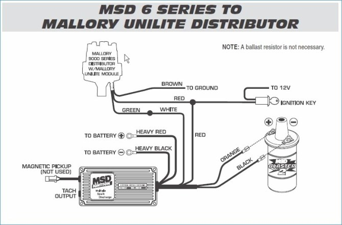 mallory to msd distributor wiring diagram  wiring diagram