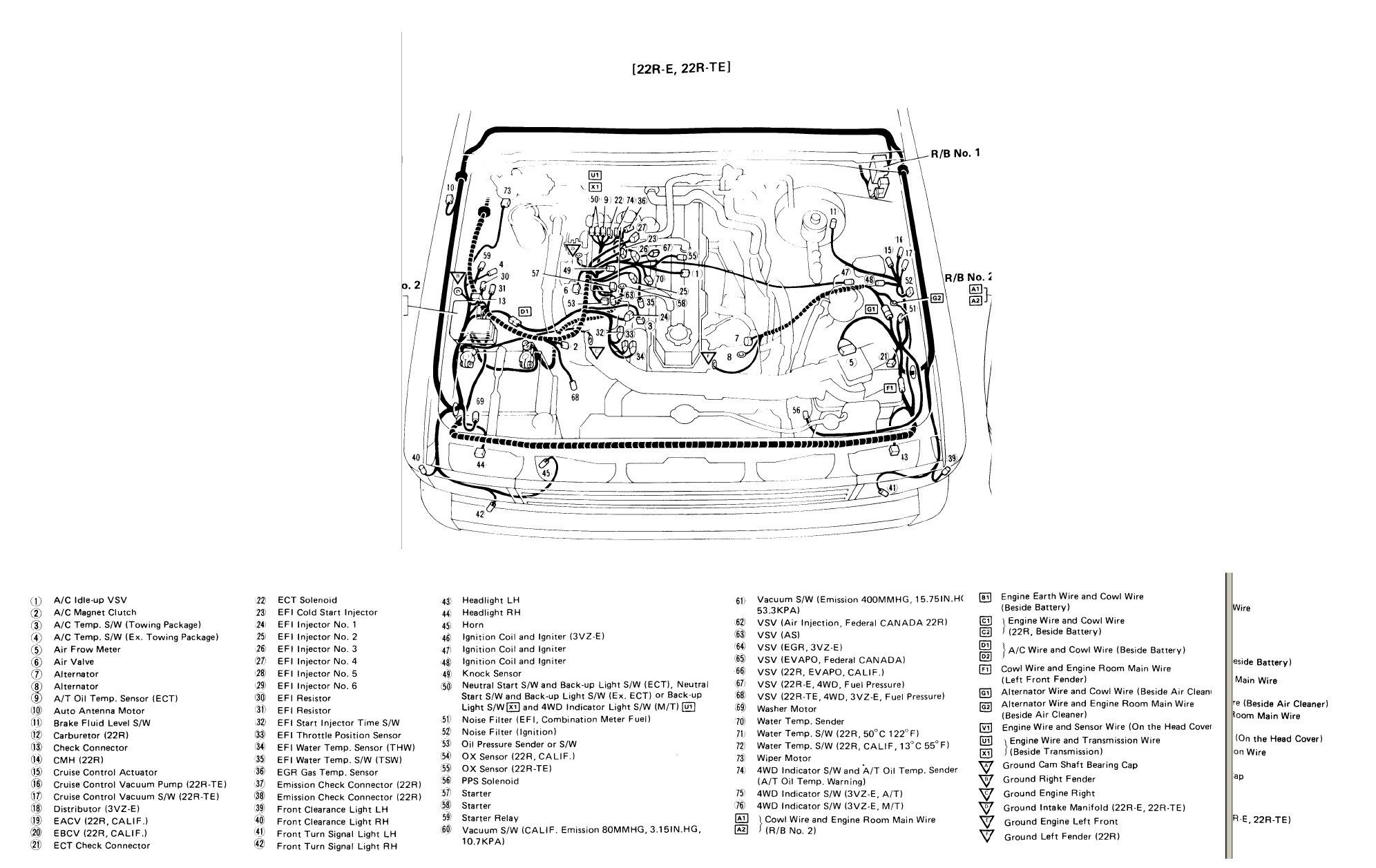1985 Toyota Pickup Wiring Diagram : 1985 Toyota Pickup