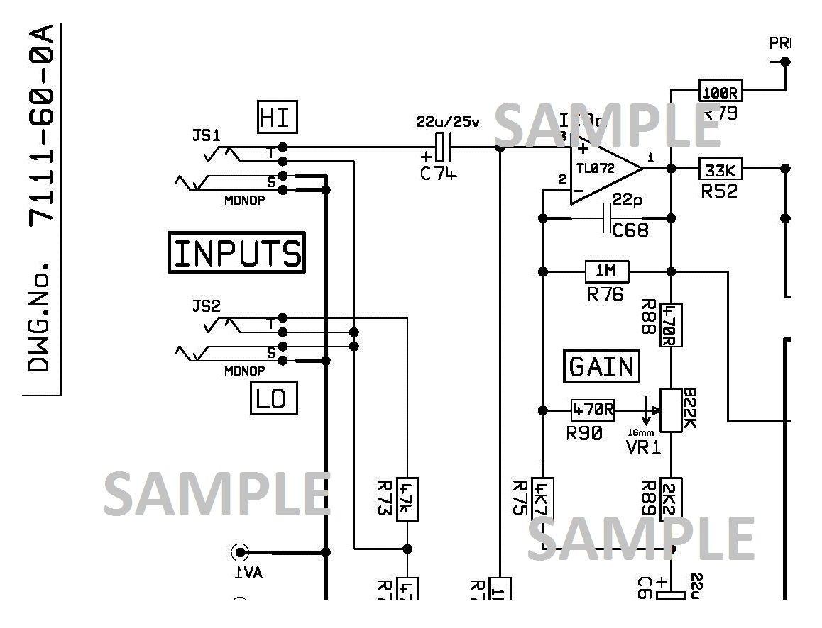[DV_3345] Marshall Jubilee Schematic Circuit Diagram