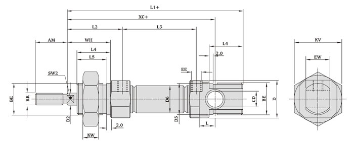 [WM_9752] Air Cylinder Schematic Download Diagram