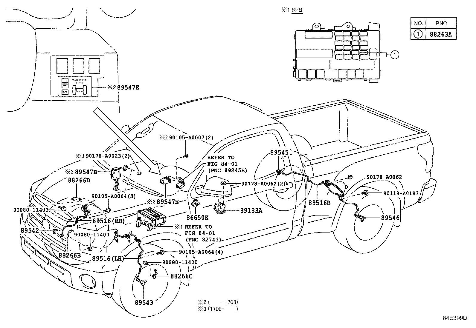 [DF_7368] Toyota Tundra Front Bumper Parts Diagram