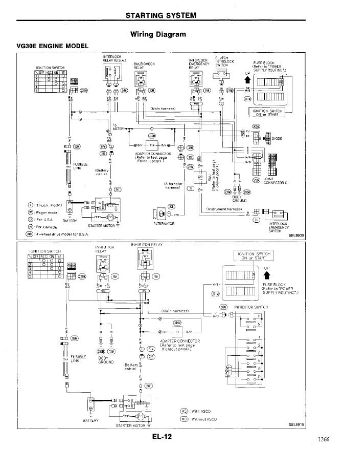 1994 Nissan Pathfinder Wiring Diagram : 1994 Nissan