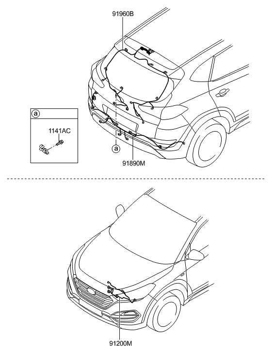 [AX_5140] Hyundai Tail Light Wiring Harness Schematic Wiring
