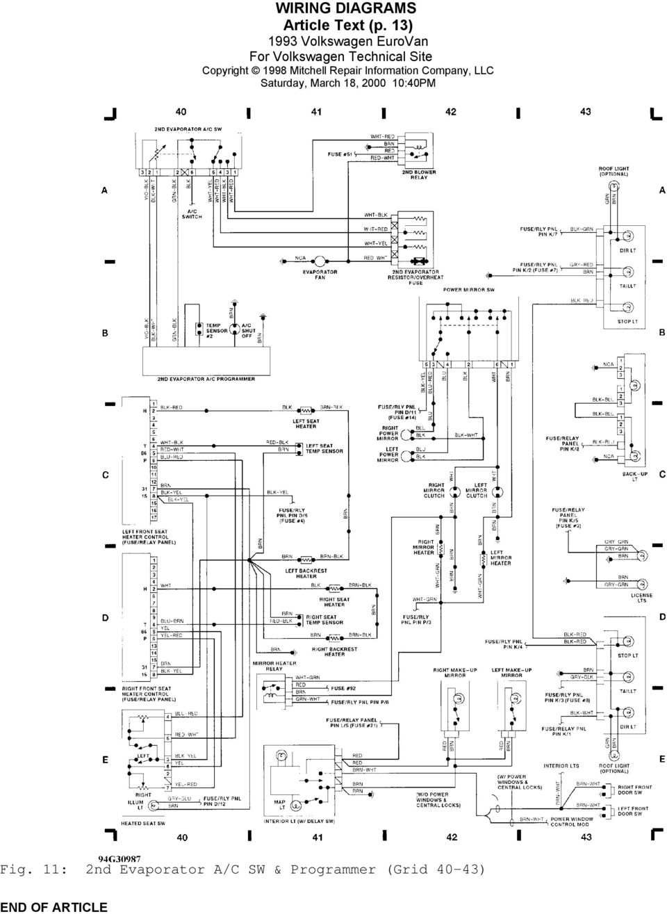 29+ 95 Vw Eurovan Wiring Diagram