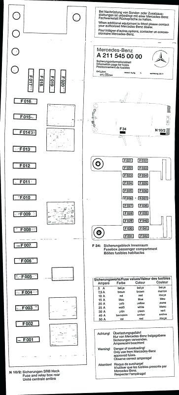 [MZ_4097] Mercedes S500 Fuse Box Download Diagram