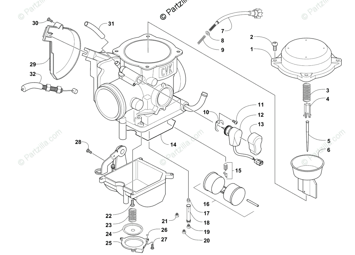 [LA_1733] Carburetor Diagram And Parts List For Briggs