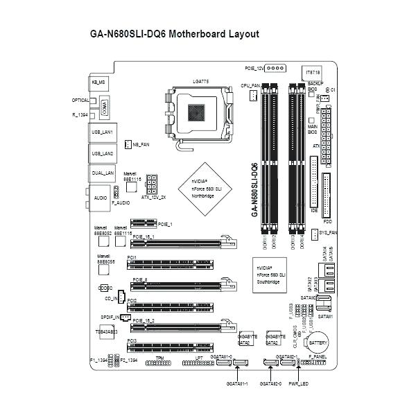 [BA_0042] Laptop Motherboard Diagram With Labels Schematic