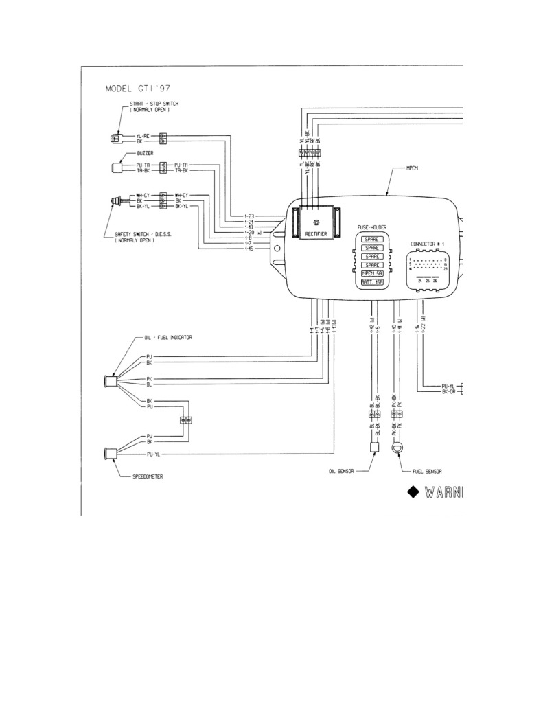 [EL_1001] 1997 Seadoo Wiring Diagram Wiring Diagram