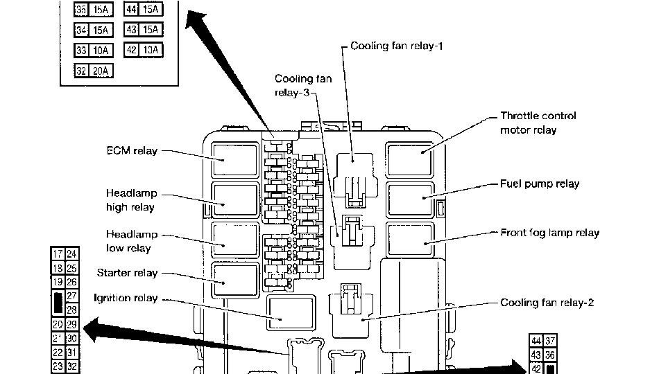 [TK_6287] Nissan Altima Hybrid 2011 Fuse Box Download Diagram