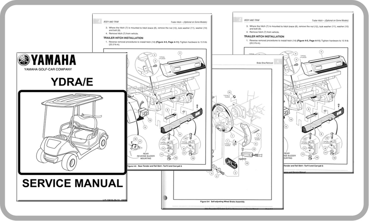 Yamaha G16 Golf Cart Parts Diagram