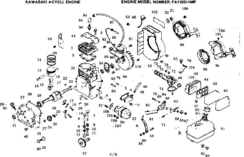 [OZ_1385] Kawasaki 721V Engine Diagram