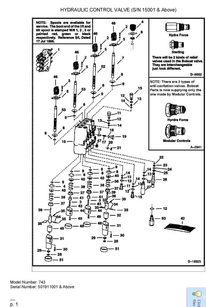 [HH_6223] Bobcat Control Valve Diagram Wiring Diagram