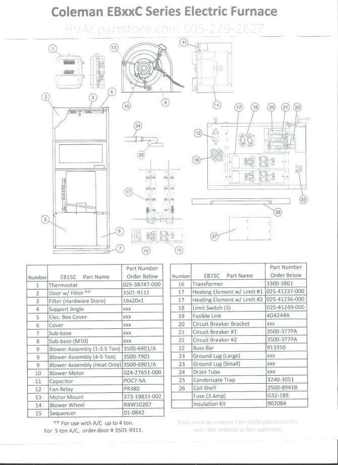 vl4619 eb15b electric furnace wiring diagrams wiring diagram