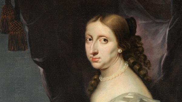 detalj av målat porträtt