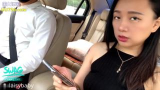 高颜值网红脸女大生搭计程车忘记带钱包没有办法只好用身体来付款啪啪啪车震口爆国语对白