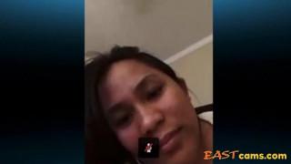 Asian Filipino Skype on bed